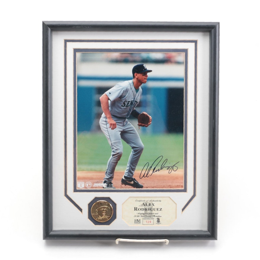 Highland Mint Alex Rodriquez Signed Seattle Mariners Limited Edition Print