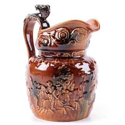 Arthur Wood Ceramic Rockingham Glazed Hunt Pitcher, Early 20th Century