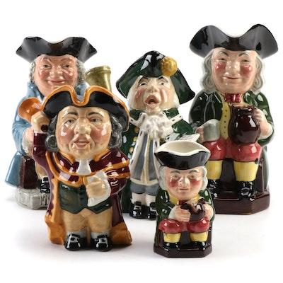 Roy Kirkham, Manor, Sylvac, and Helsboro Ware Porcelain Character Jugs