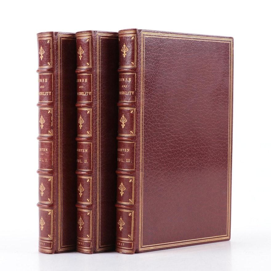"Second Edition ""Sense and Sensibility"" Three-Volume Set by Jane Austen, 1813"