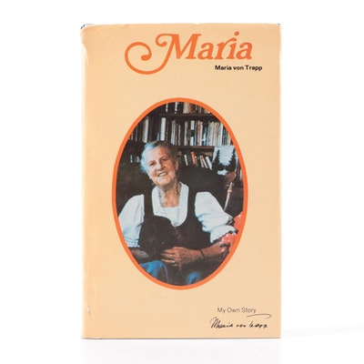 """Signed """"Maria: My Own Story"""" by Maria von Trapp, 1972"""
