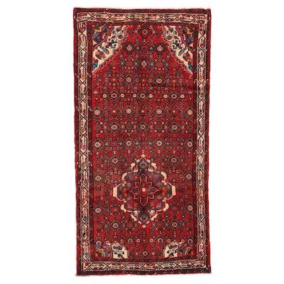 3'9 x 7'6 Hand-Knotted Persian Zanjan Area Rug