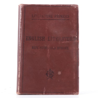 """English Literature"" Primer by Stopford Brooke, c. 1900"