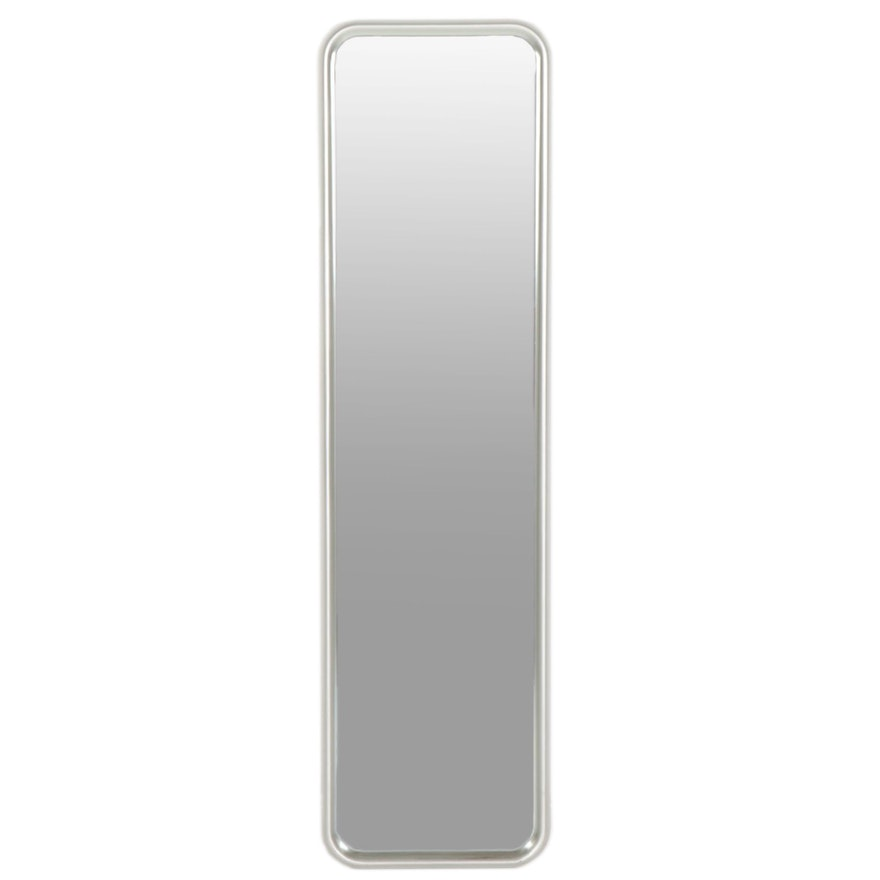 Pewter Toned  Framed Full Length Wall Mirror, Contemporary
