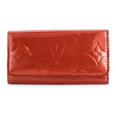 Louis Vuitton Four-Key Holder in Indian Rose Monogram Vernis