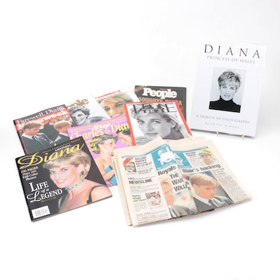 """""""Diana: Princess of Wales"""" with Magazines and Newspapers, 1991–1997"""