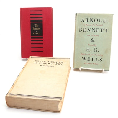 """First American Edition """"Experiment in Autobiography"""" and More by H. G. Wells"""