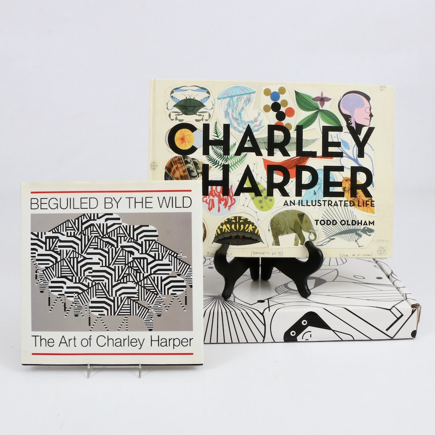 """Charley Harper """"An Illustrated Life"""" and """"Beguiled by the Wild"""" Books"""