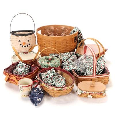 "Longaberger ""Christmas Collection"" Baskets with More Seasonal Decor"