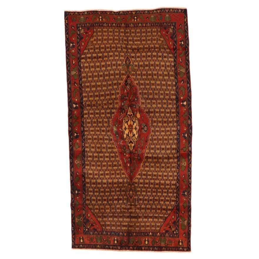 4'9 x 9'6 Hand-Knotted Persian Kolyai Area Rug