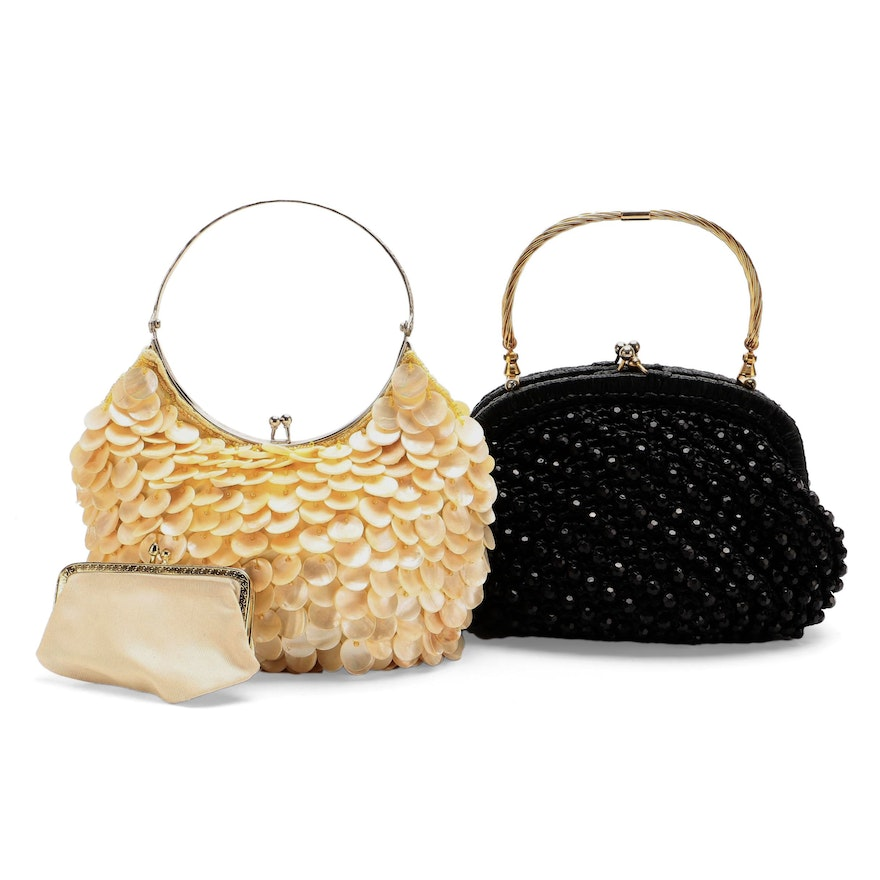 Expressions NYC and Other Bead and Shell Embellished Handbags