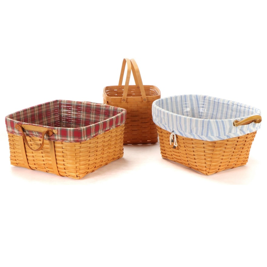 Longaberger Handled Storage and Carrying Baskets