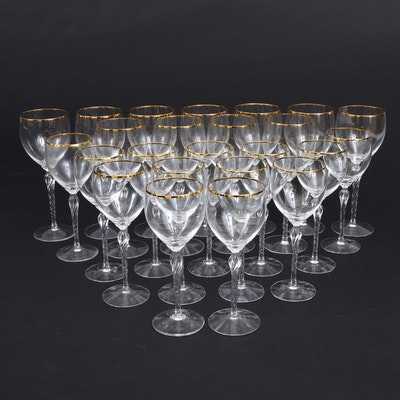"""Lenox """"Monroe"""" Crystal Water Goblets and Wine Glasses, 1985–2008"""