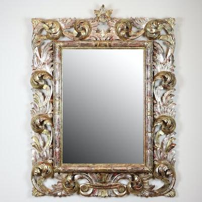 Rococo Style Rectangular Gilt Framed Wall Mirror