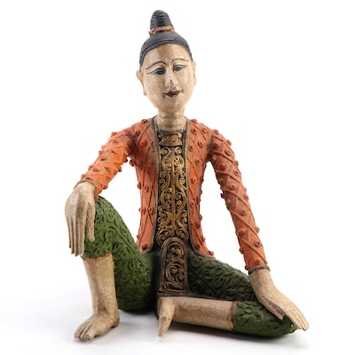Southeast Asian Composite Woman Figurine, Late 20th to 21st Century