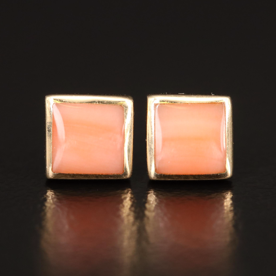 Kabana 14K Coral Stud Earrings