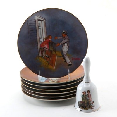 Norman Rockwell Museum Collector Plates with Bell, Late 20th C.