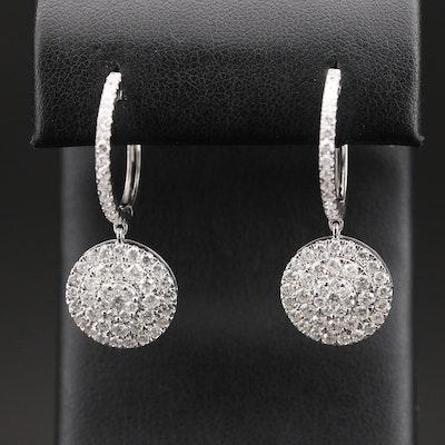 14K 3.73 CTW Diamond Hoop Earrings