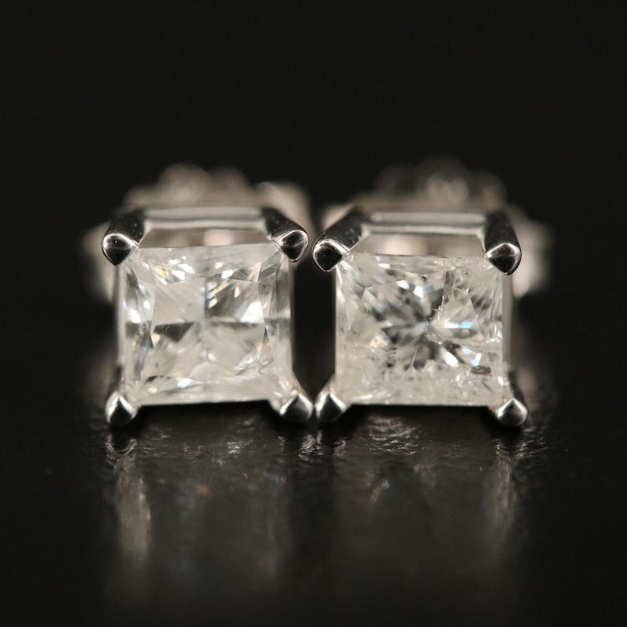 14K 1.33 CTW Diamond Stud Earrings