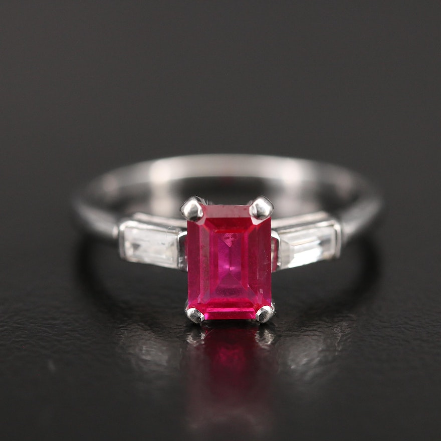 14K Ruby and Topaz Ring