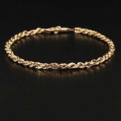 10K Rope Link Bracelet