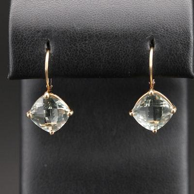 14K Prasiolite Earrings