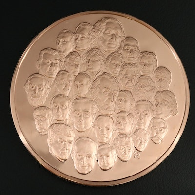 1976 Bicentennial Bronze Medal Issued by The Franklin Mint