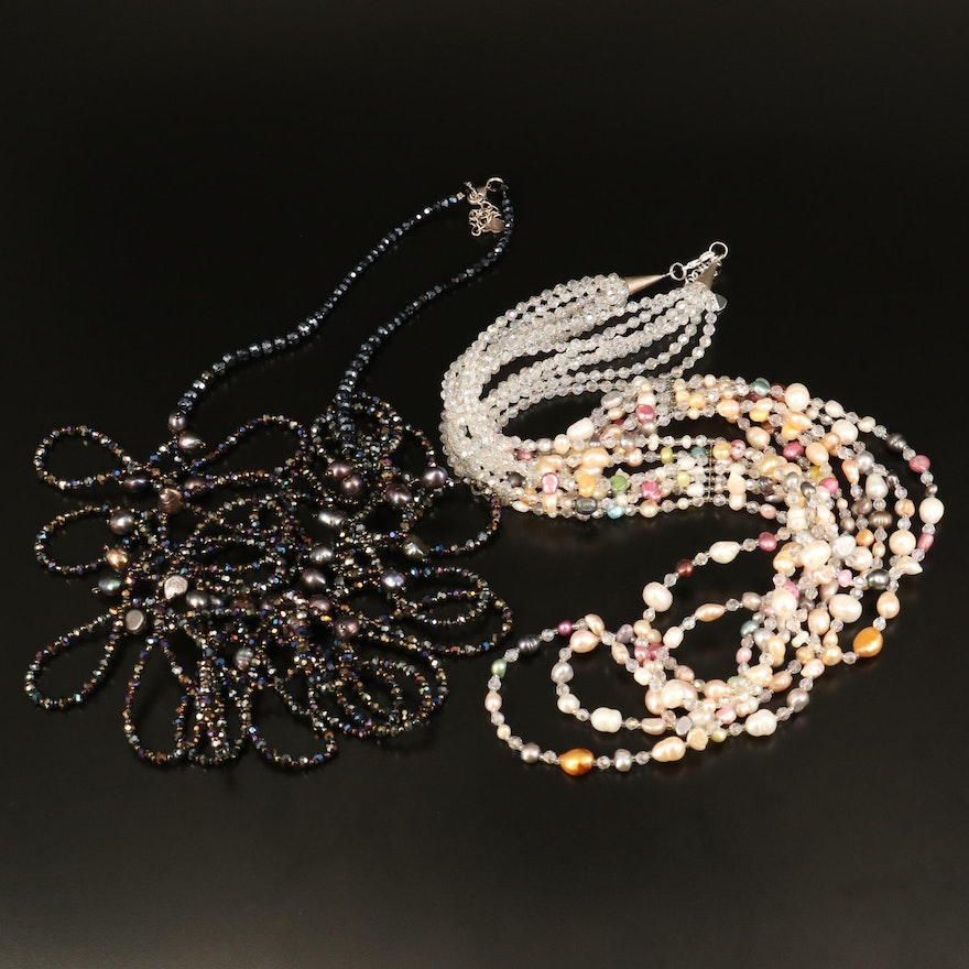 Nakamol Chicago Beaded Necklaces with Pearl and Glass