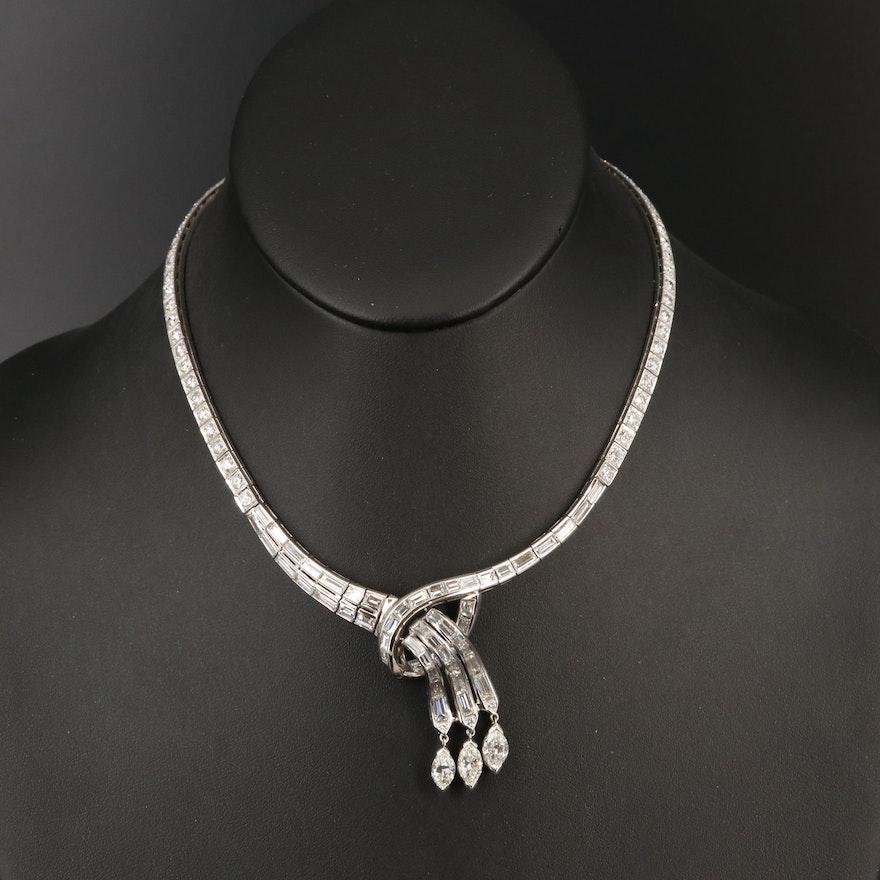 Platinum 16.32 CTW Diamond Necklace