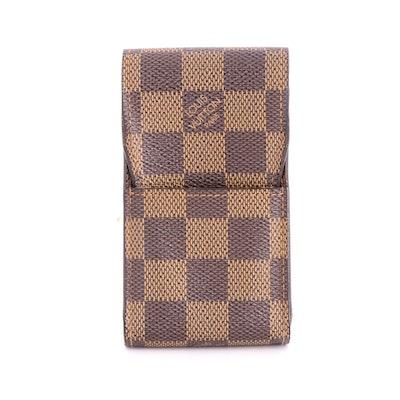 Louis Vuitton Cigarette Case in Damier Ebene Coated Canvas