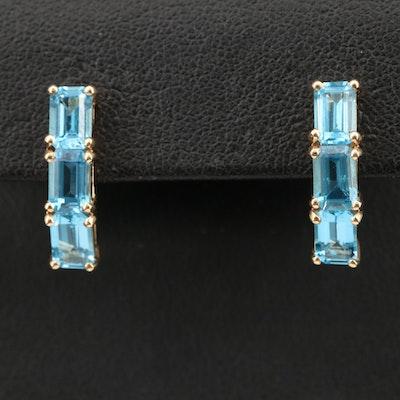 14K Topaz Earrings