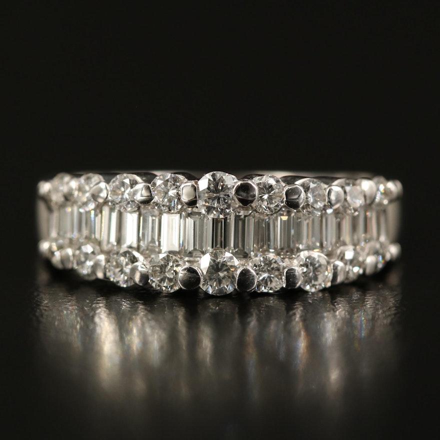 14K 1.24 CTW Diamond Graduated Ring