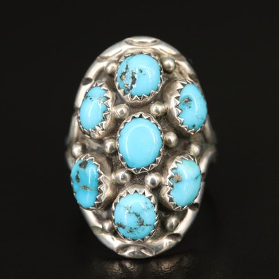 Benny Touchine Navajo Diné Sterling Silver Turquoise Ring