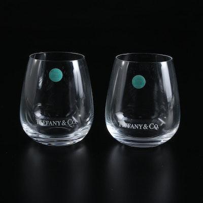 "Tiffany & Co. ""Classic"" Crystal Tumblers"