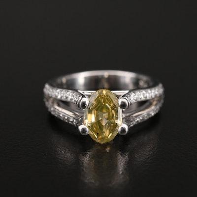 18K 1.88 CTW Diamond Ring with GIA Report