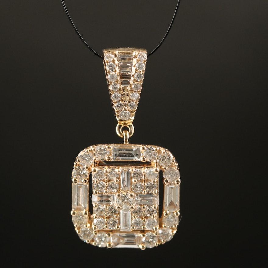 14K 1.33 CTW Diamond Pendant