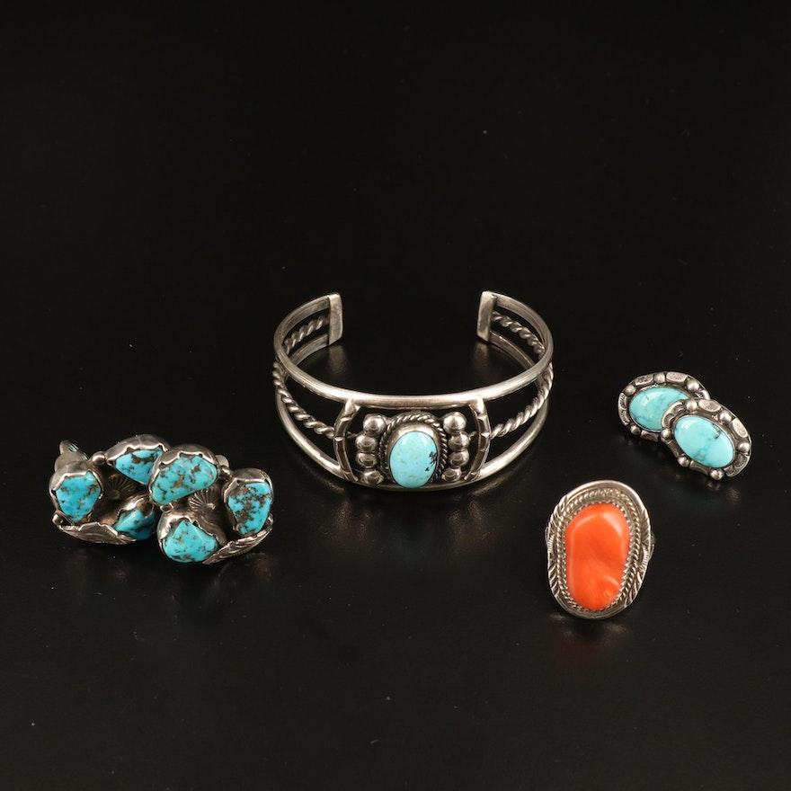 Southwestern Sterling Jewelrt Including Julia Coan Navajo Diné Ring