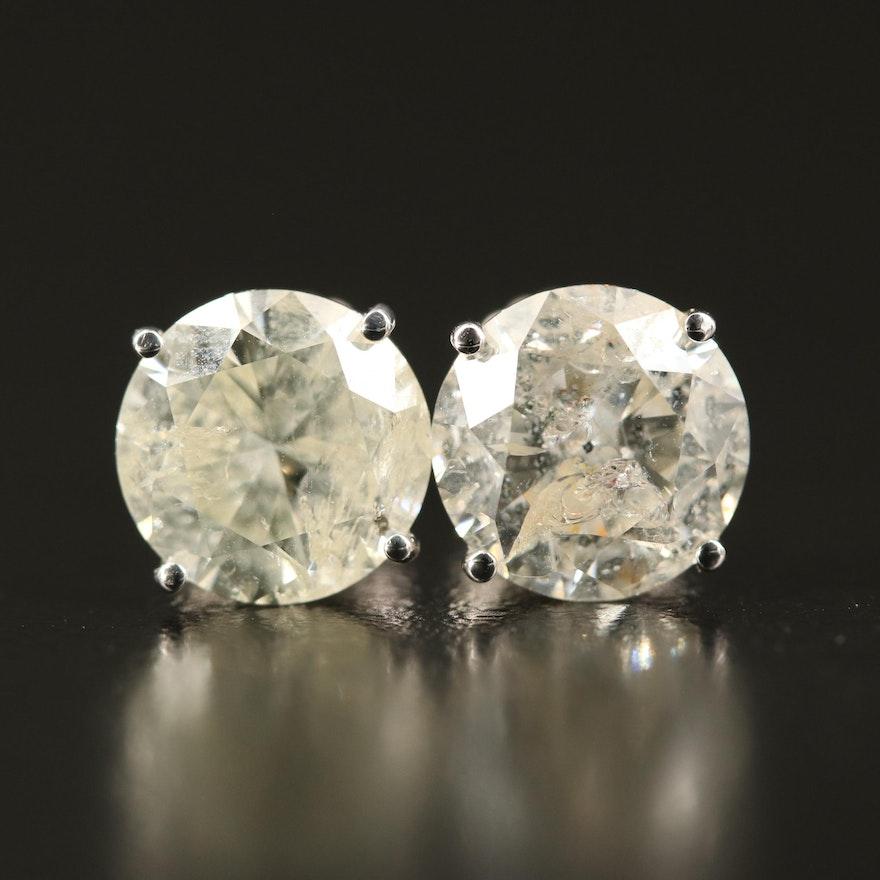 14K 4.90 CTW Diamond Stud Earrings