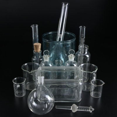 Scientific and Medicinal Glass Bottles, Beakers, Flasks and Tubes