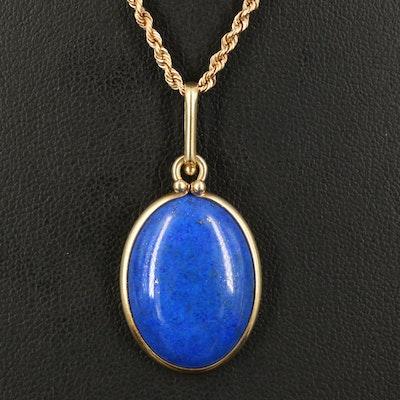 14K Lapis Lazuli Pendant Necklace