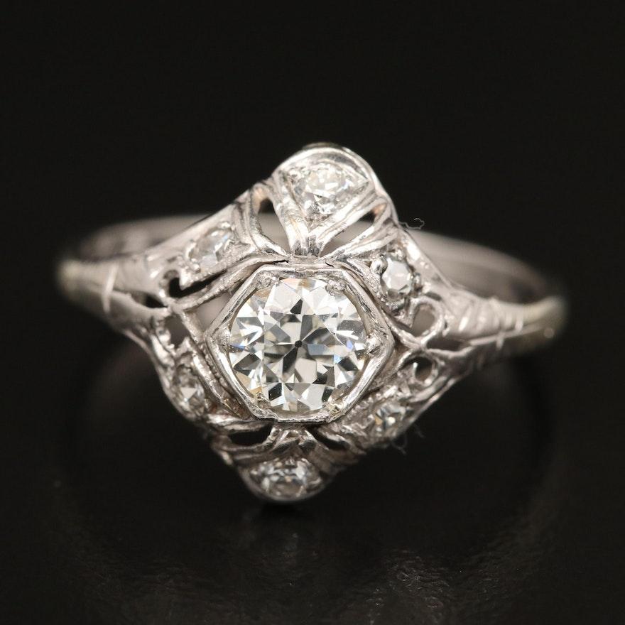 Edwardian 18K Diamond Ring