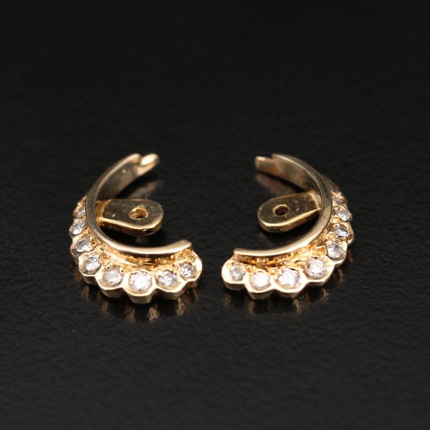 14K Diamond Earring Jackets