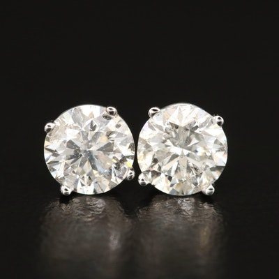 14K 1.93 CTW Diamond Stud Earrings with GIA Online Reports