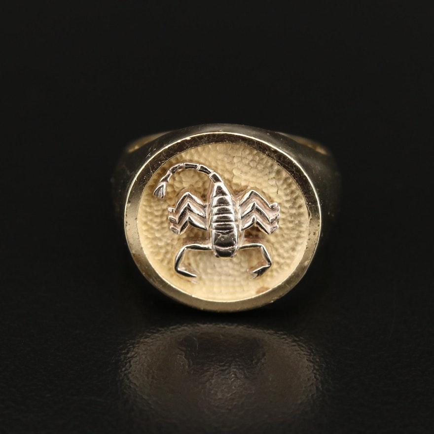 14K Scorpion Ring