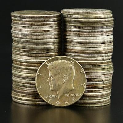 Kennedy Silver Clad Half Dollars, 1966–1969