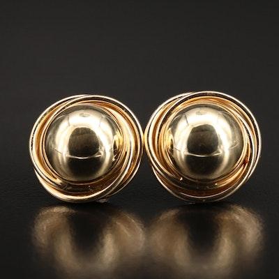 14K Domed Earrings