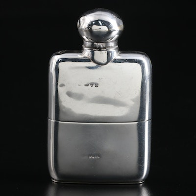 Sterling Silver Flask City of Chester England, 1900