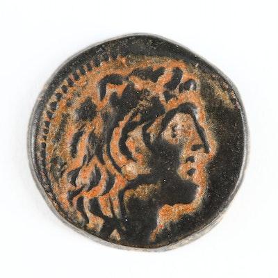 Ancient Greek Seleukid Kingdom AE Drachma of Alexander I Balas, 150–145 BC
