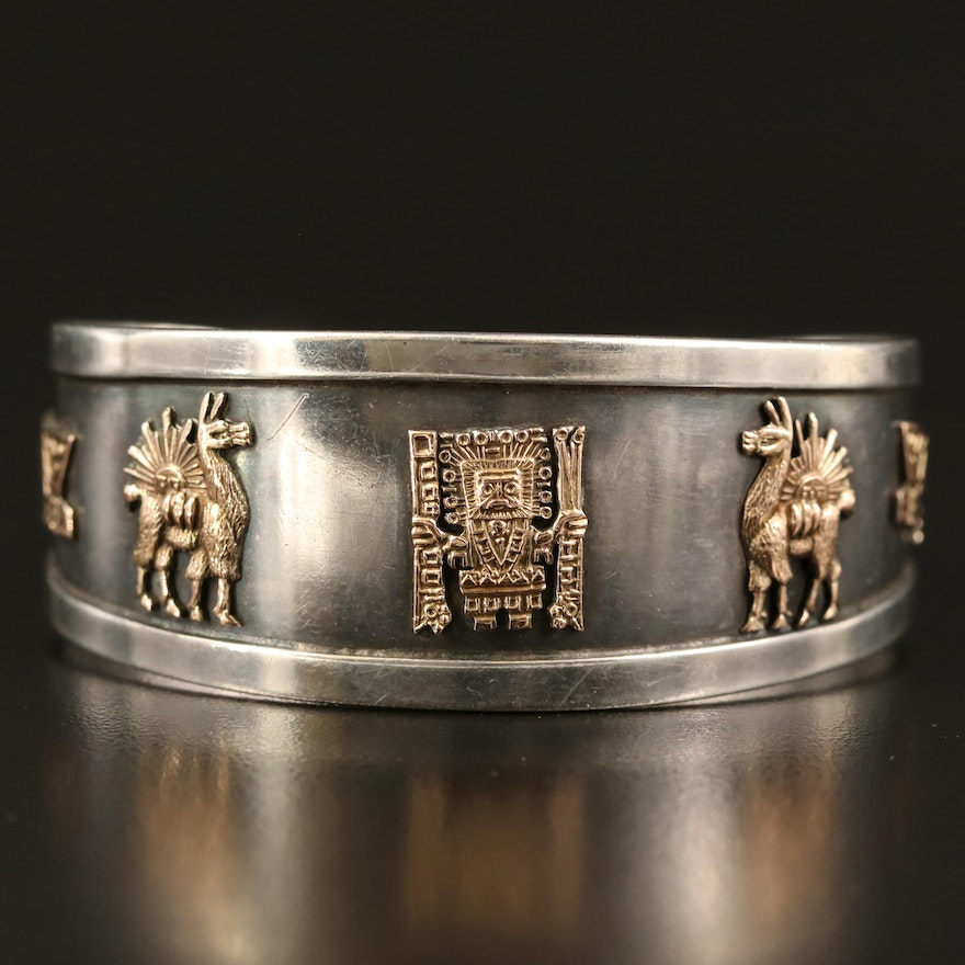 Peruvian Sterling Bracelet with 18K Accents