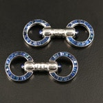 Cartier Platinum and Sapphire Cufflinks